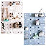 DIY Pegboard Wandorganizer für Küche Utensil Werkzeug Rack Pflanze Wand Regale 3M Selbstklebend Wandhalterung (Beige)