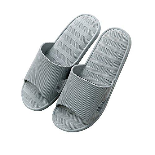 Yashang ciabatte stagione estiva slittata fondo spesso interno semplice bagno fondo morbido pantofole da uomo