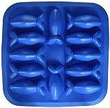 Flexibel 12 Formen in Fischform Eiswürfelform blau Gummi Neuheit Gag Geschenk
