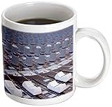 3dRose Audio Mixer-Ständer, verstellbar, für Studio-Aufnahmen, verwandelt Tasse, Keramik, Schwarz/Weiß, 10,16x 7,62x 9,52cm