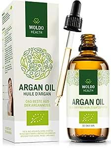 Bio-Arganöl kaltgepresst für Haare Haut Gesicht - biologisches Kosmetik Serum aus Marokko Beauty Gesichtspflege & Körperöl, Laborgeprüft mit Prüfbericht