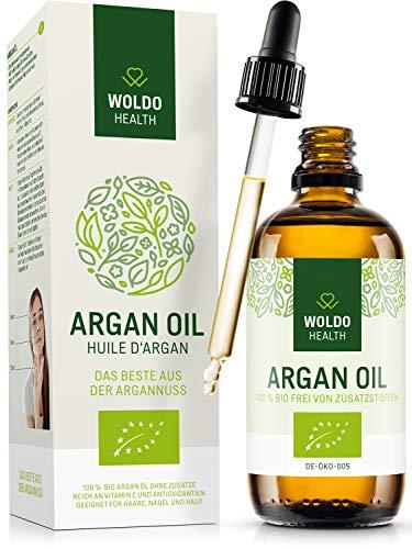 Bio-Arganöl kaltgepresst für Haare Haut Gesicht - biologisch auch als Speiseöl verwendbar aus Marokko Beauty Gesichtspflege & Körperöl
