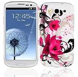 Cadorabo – TPU Hard Cover per  Samsung Galaxy S3 / S3 NEO  - Case Cover Involucro Bumper Accessorio in Design: ROSA-ROSSA