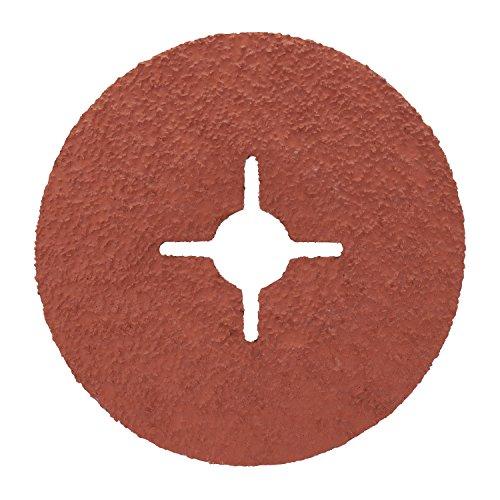 3M Cubitron II Fiberscheibe 987C – Schleifmittel mit Hochleistungs-Keramikkorn für Edelstahl & Metall – 125 mm Vulkanfiber-Schleifscheibe mit 36+ Körnung für Winkelschleifer – 5 Stück