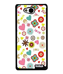 PrintVisa Designer Back Case Cover for LG L90 :: LG L90 Dual (Hearts Stars Flowers Love)