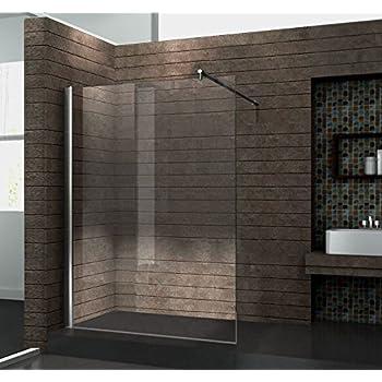 walk in 10 mm duschwand duschabtrennung duschkabine dusche 120x200 cm aquos baumarkt. Black Bedroom Furniture Sets. Home Design Ideas