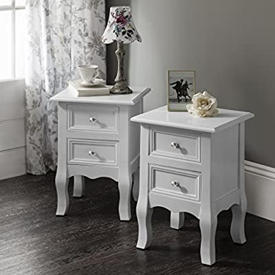 2 Windsor Bedside Tables Nightstands , Fully Assembled