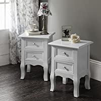 Windsor Bedside Tables Nightstands , Fully Assembled, 34.5cm x 30cm x 49 cm, 2 Stands