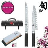 KAI Shun DM-W10 set: coltello da cucina + coltello prosciutto + pietra+ ...