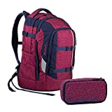 Satch Pack Blazing Purple Schulrucksack Set 2tlg.