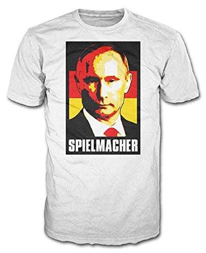 Rimson Stone Deutschland WM 2018 Russia Putin Spielmacher Germany T-Shirt (XL, weiß)