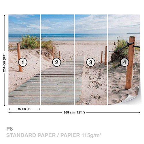 weg-strand-sand-natur-fototapete-wandbild-fototapeten-bild-tapete-papier-kein-vlies-1998ws