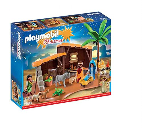 PLAYMOBIL Playmobil-5588 Navidad-Playset Bel&eacuten (5588), Multicolor, 39.9 x 29.7 x 7.4