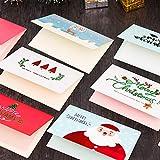 Outtybrave 9 Stück Grußkarten niedliche Weihnachtsmotive Cartoon Mini Papier Weihnachten Segen Karten Einladung Karte Party Supplies