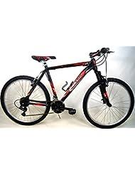 """'Fahrrad MTB Mountain Bike Aluminium """"EVO Shimano 21V Farbe schwarz/rot"""