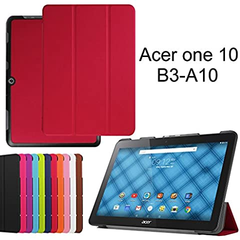 Acer Iconia One 10 B3-A10 Ultra Funda,Mama Mouth Ultra Slim Ligera PU Cuero Con Soporte Funda Caso Case para 10.1