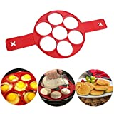 TP MALL Silikon Formen Küchenwerkzeuge für Backformen Pfannkuchen Formen 7 Kreise Wiederverwendbare Non Stick Ei Form Ring Pfannkuchen Maker