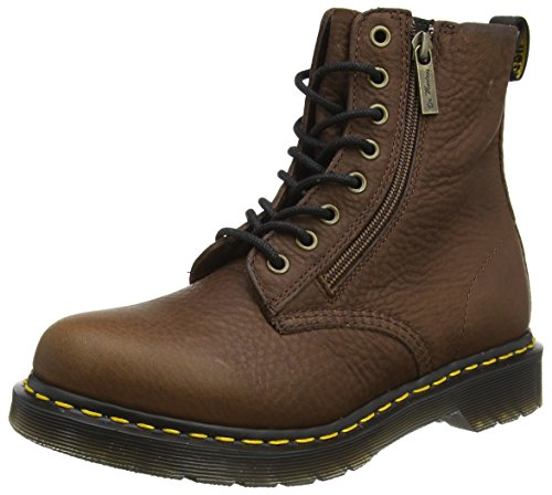 Up Lace Womens Brown Stiefel (Dr. Martens Damen Pascal W/Zip Kurzschaft Stiefel, Braun (Dark Brown Grizzly), 39 EU)