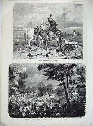 Rabbit Hunt Donkey Dogs Music Concert Park France