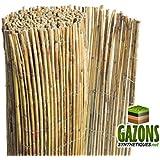 Canisse en canne de bambou 4m x 1 8m jardin - Canisse naturel roseau fendu 2m x 5m ...