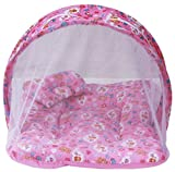 #2: Amardeep and Co Toddler Mattress with Mosquito Net (Pink) - MT-01NP