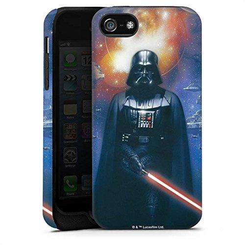 Apple iPhone 5c Tasche Hülle Flip Case Star Wars Merchandise Fanartikel The Dark Side Tough Case matt