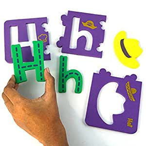 Alpha Puzzle - Self-Correcting Puzzle to Learn Alphabets from A to Z - in Small, Capital Letters and Associated Objects- Made of Soft, Safe and Durable 6 mm Foam (Alpha Puzzle )