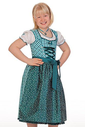 Spieth & Wensky Trachten Kinderdirndl 3tlg. - WICHTEL - fuchsia, petrol, Größe 80