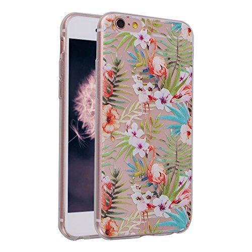 2 PCS iPhone 6/6S Schale 4.7 Zoll, iPhone 6 Hülle Silikon, iPhone 6S Hülle Silikon, Moon mood® TPU Silikon Handyhülle Schutzhülle für Apple iPhone 6/6S Thin Dünn Weich TPU Flexibel Silikon Schutz Etui Muster 4