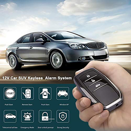 wendaby 12 V Auto SUV Keyless Entry Motorstart SUV Keyless Alarm System Druckknopf Fernbedienung Starter Stop Auto Auto Zubehör Werkzeug - Universal-auto-starter, Fernbedienung