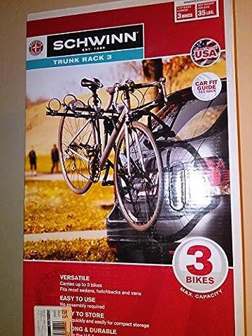 Schwinn 3-bike Trunk Mount Rack, Fits Most Sedans, Hatchbacks, & Vans by Schwinn (Sedan Trunk)