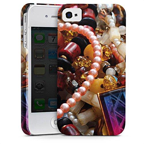 Apple iPhone X Silikon Hülle Case Schutzhülle Schmuck Juwelen Perlen Premium Case glänzend