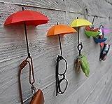 #4: Omkar Umbrella Shape Wall Mount Key Holder Wall Hook Hanger Organizer 3 pcs set