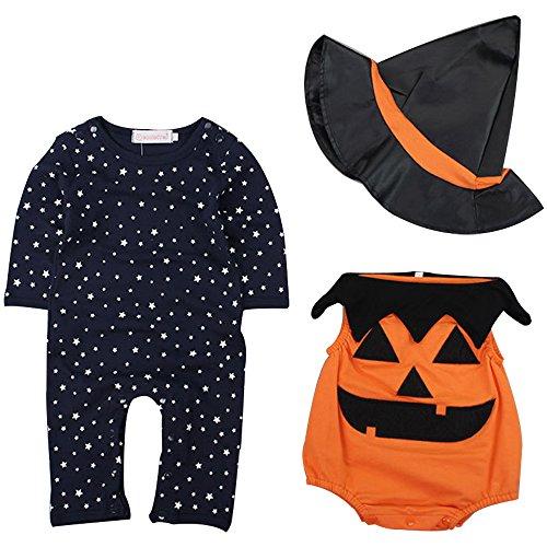 Imagen de kindoyo bebés niños disfraz de halloween calabaza traje