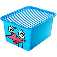 Preisvergleich für BranQ Spielzeugkiste Spielzeugbox Box Kasten Kiste 30L IML mit Deckel Top (blau)