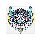 DIYthinker China Chinesischer Drache-Kopf Traditionelle Muster Anti-Rutsch-Boden Haustier-Matten-Platz Home Küchentür 80 cm Geschenk 80 X 80Cm Mehrfarbig