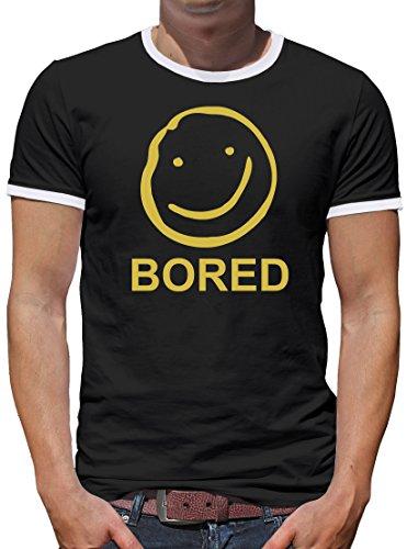 TLM Bored Kontrast T-Shirt Herren L (Watson Kostüme Halloween Und Holmes)