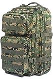 Camouflage Militaire Armée Sac à dos US assault pack 36L MOLLE Digital Woodland