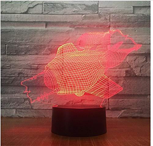 Die U Boot Form 3D Led Nachtlicht 7 Colar Ändern Touch Schalter Für Wohnkultur Usb Tischlampe Nice