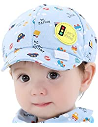 939fd2db1a3 Ziory Blue Snapback Cartoon Printing Toddler Infant Hat Little Car Baseball Beret  Cap For Baby Girls