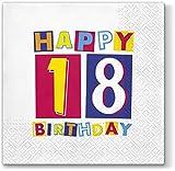 20 Servietten Endlich erwachsen / 18 / Geburtstag / Happy Birthday 33x33cm