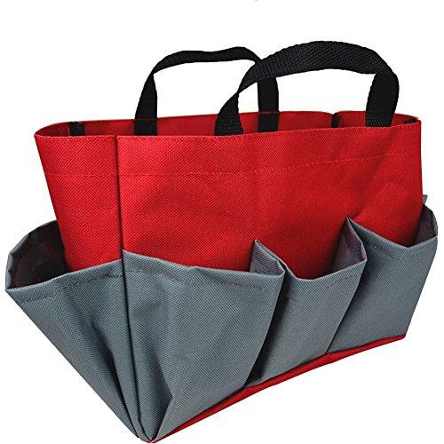 Da Jia INC Garnitur Outdoor Garten-Werkzeug Tote Halter Oxford Bag Organizer Storage Carrier mit tiefen Taschen (Farbe-krawatte Tragen)