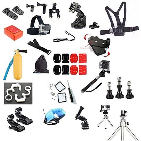 eimolife ® kit accessori GOPRO per GOPRO HERO 4 3