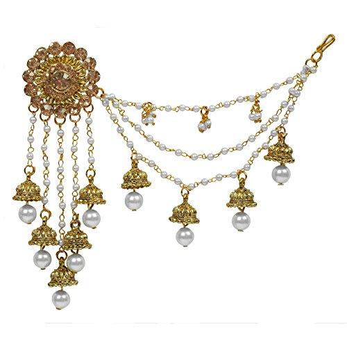 The Luxor Gold Plated American Diamond Long Chain Jhumki Earrings for Women (ER-1735)