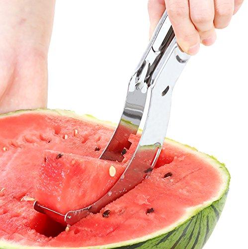 REFAGO Watermelon Slicer, Easy Slice Fruit Kitchen Tool,Stainless Steel Melon Baller Fruit Carve Knife & Fruit Peeler Faster Melon Cutter - Easy Slicer