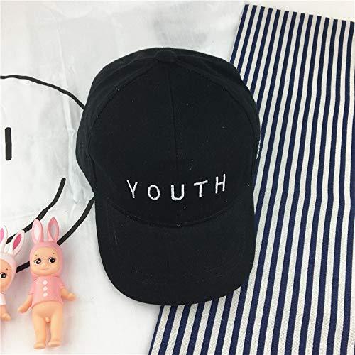 mlpnko Kinderhüte Jungen und Mädchen Baseballmütze Buchstaben 1-3 Jahre alt Baby Mützen Kinder Flut Hut schwarz 10-36 Monate (Riddler Kostüm Mädchen)