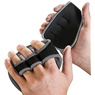 Aduro Sport 2-Pack BYLT Fitness Grip Pads - Firm Grip, Sweat Proof, Light Weight, One Size Fits All (Grey)