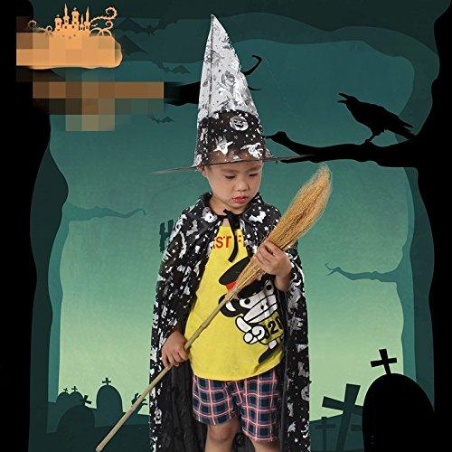 Halloween-Mantel Kinderkleidung Maskerade Cosplay weiblichen Zauberer Hexe Performance-Kleid Festival / Halloween / Weihnachten, A (Weibliche Zauberer Kostüm)