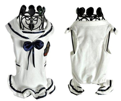 Lovely Puppy Apparel Pet Vêtements pour animal domestique Noir et blanc Jupe Vêtements, MM
