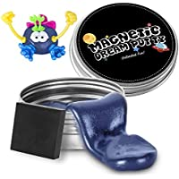 iLC Magnetic Putty Playdough Creative Magnet Toy Slime Stress Reliever for Kids and Adults for Fun (Blue)
